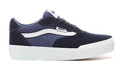Vans Youths Palomar Suede Canvas Dress Blue Trainer