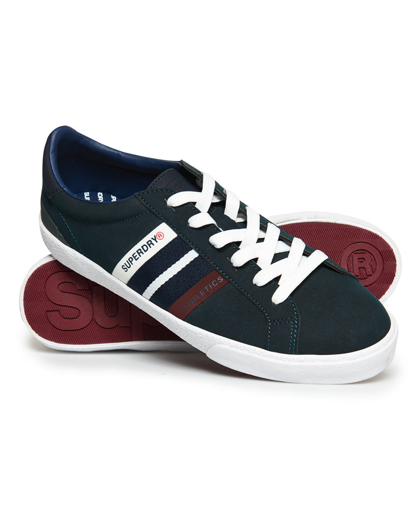 Vintage Court Navy-Port Trainers - front