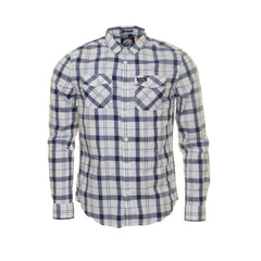 Washbasket L/S New Optic Check Shirt  by Superdry
