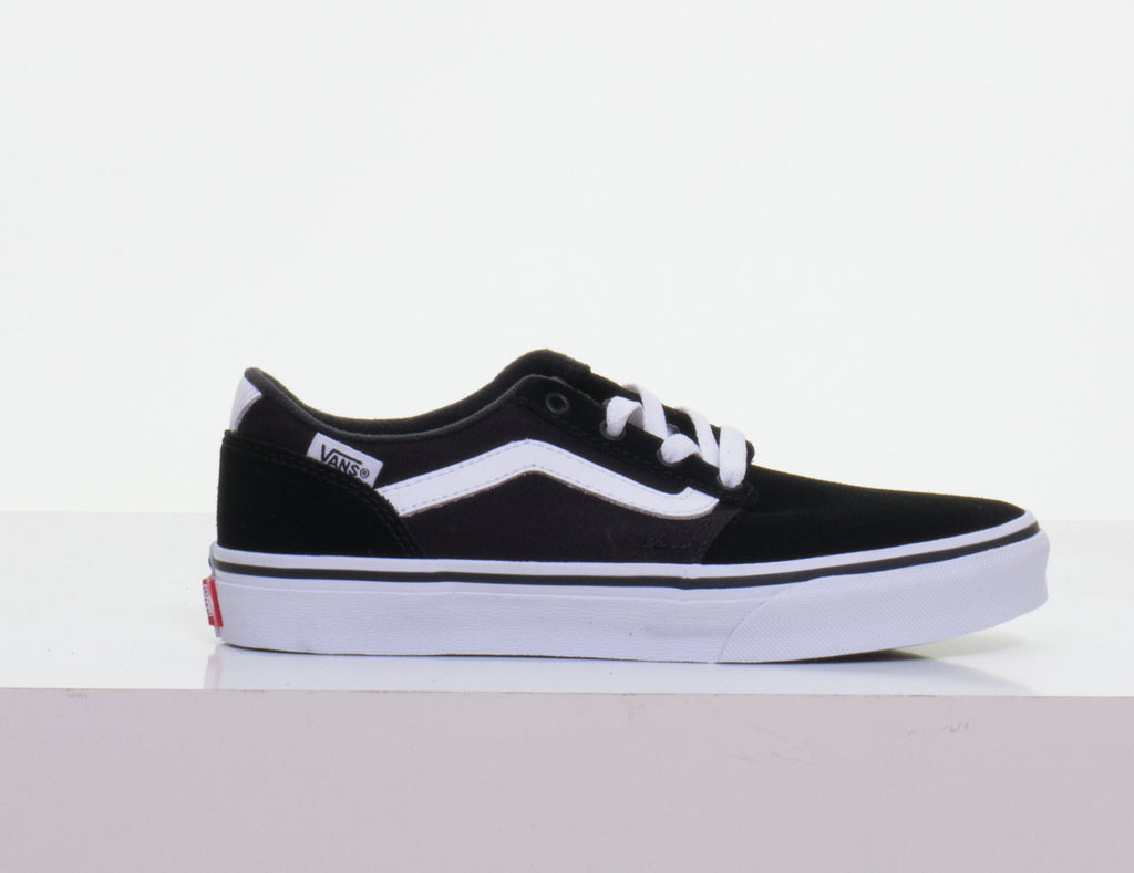 Chapman Stripe Suede Canvas Black/White By Vans Youths