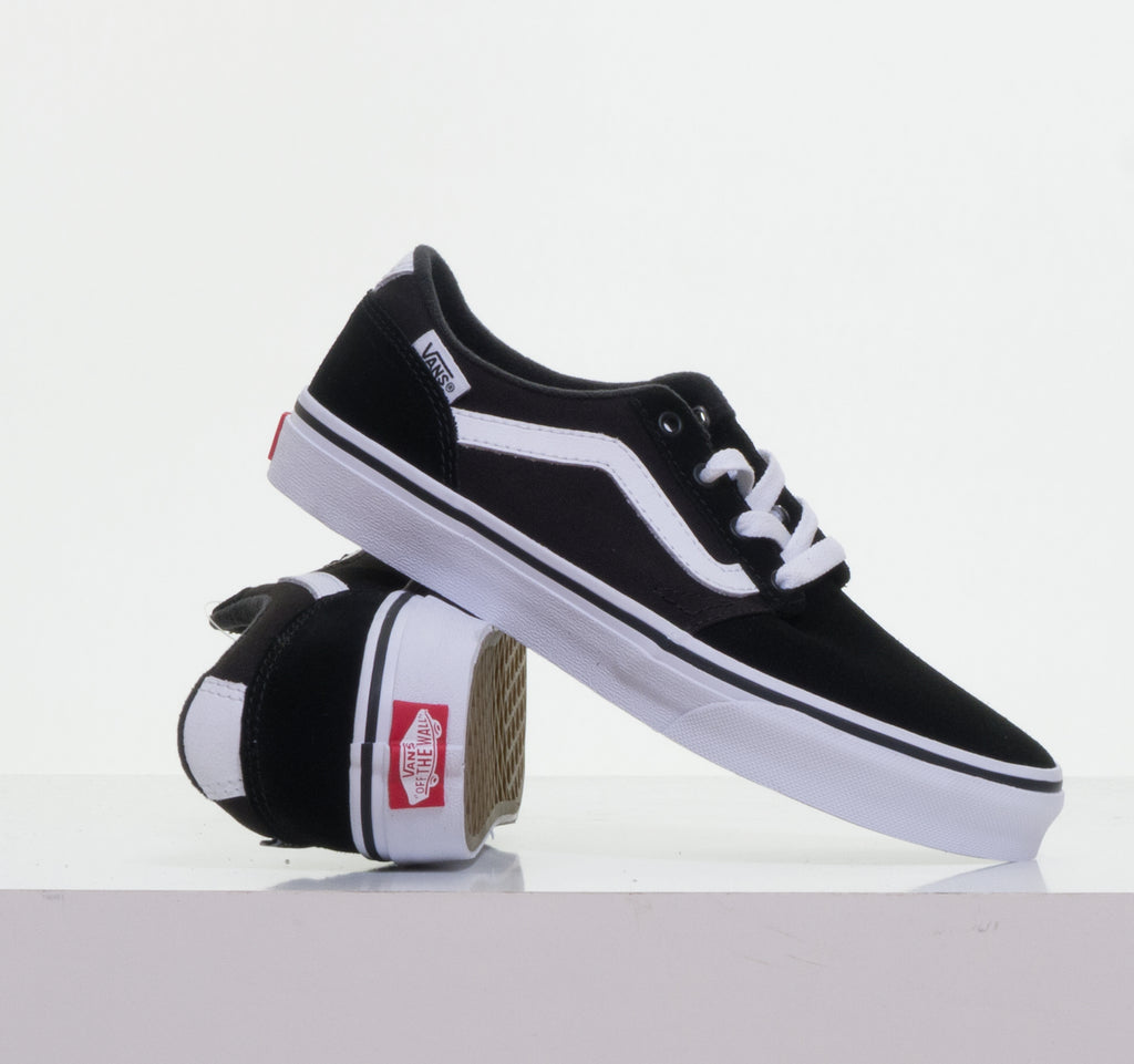 d944fa7ec6 Chapman Stripe Suede Canvas Black White By Vans Youths - Vans Youths ...