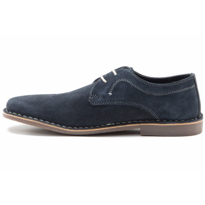 Yuma Navy Suede Shoe by Redtape