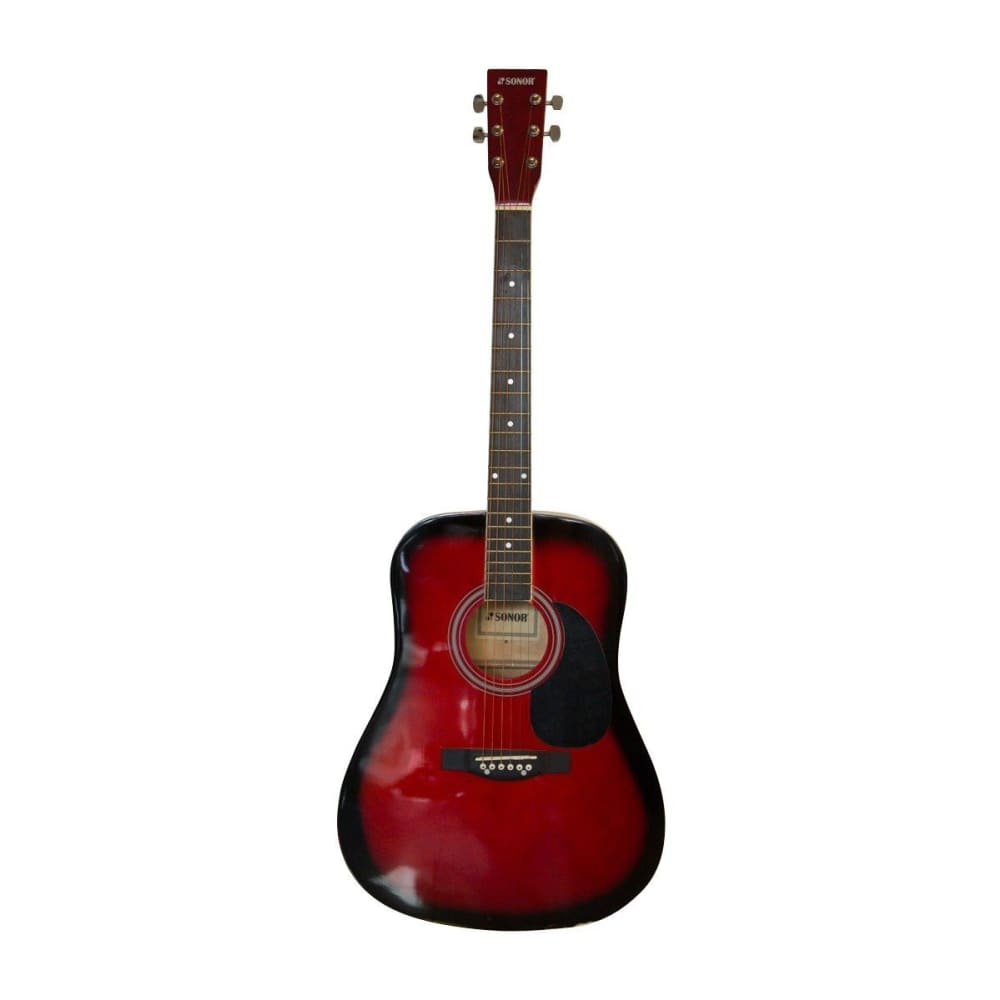 Acoustic guitar - Red sunburst - Sonor - Hawamusical - Music Shop Instruments Lebanon
