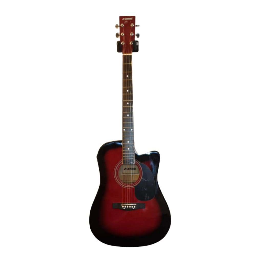 acoustic guitar- with equalizer-red sunburst -Sonor - Hawamusical - Music Shop Instruments Lebanon
