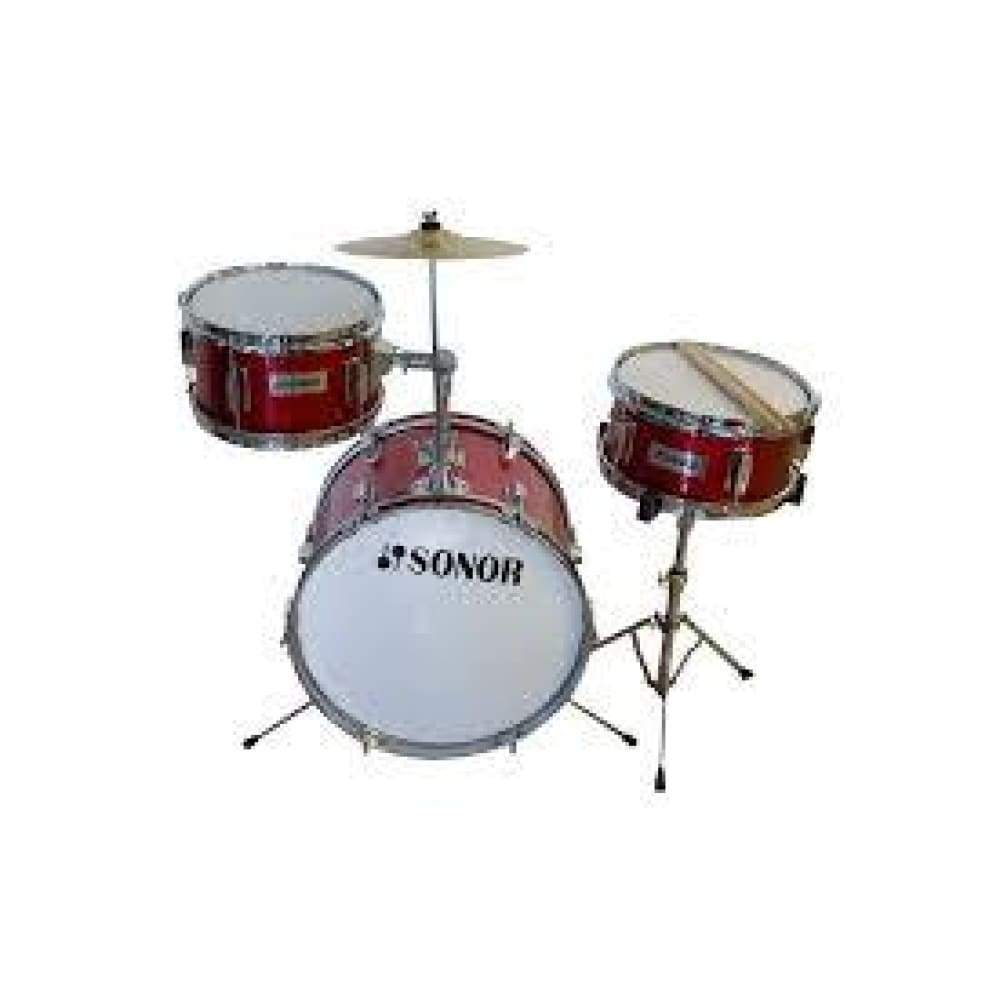 DRUM- JUNIOR- SN-J003-METALLIC RED (WITH PEDAL AND THRONE)