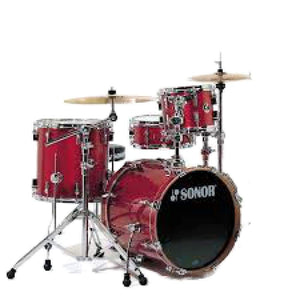 DRUM- SONOR- RED (WITH THRONE) DRUMS INSTRUMENT LEBANON
