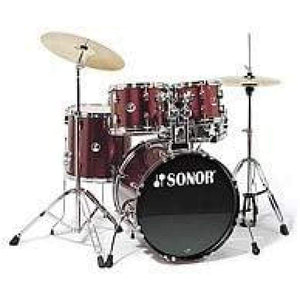 DRUM- SONOR - RED WINE (WITH THRONE) DRUMS INSTRUMENT