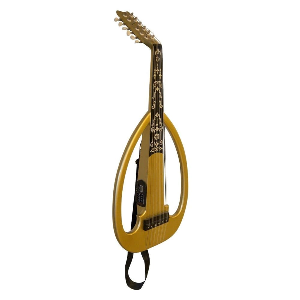 Electric Oud - Gold - Syrian - Hawamusical - Music Shop Instruments Lebanon