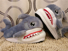 Winter Slippers Women and Men Fashion Shark Slipper Cotton