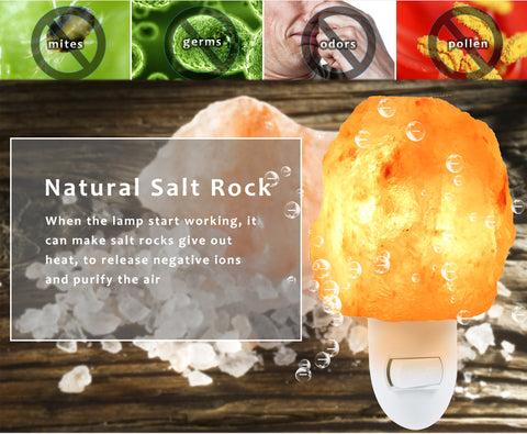 Natural Crystal Salt Rock Wall Lamp - Variety Genie