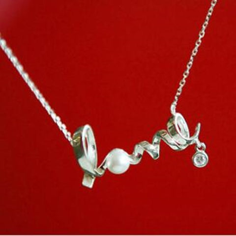 Simple Wave Heart Women Necklace
