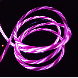 USB Cable Data Charging Flowing LED Glow Charger Wire Cord Micro USB Cable - Variety Genie