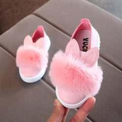 The Bunny Pom Toddler Baby Fur Sneakers - Variety Genie