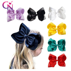 Image of Kids Grosgrain Ribbon Bow With Clips