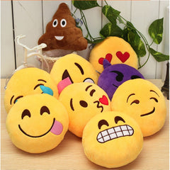 Image of funny emoji smiley cushion decoration sofa plush pillow