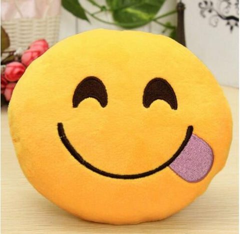 funny emoji smiley cushion decoration sofa plush pillow - Variety Genie
