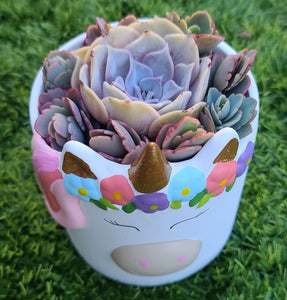 Unicorn planter pot Super Bowl Sale
