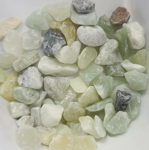 Jade polished pebble top dressing