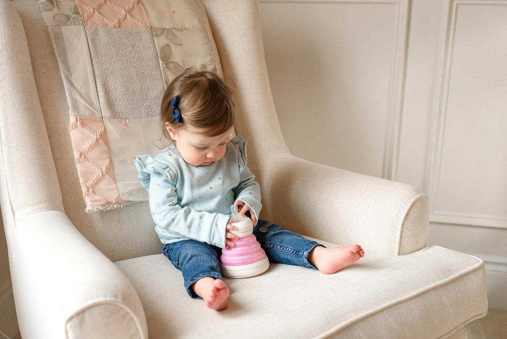 Collapsible Baby Bottle that Transitions to a Sippy Cup