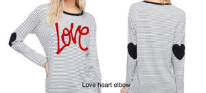 Love & Hearts on elbow