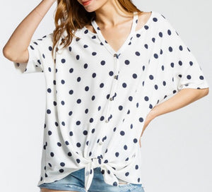 e5aff711618f1 Favorite Polka dot and front tie top