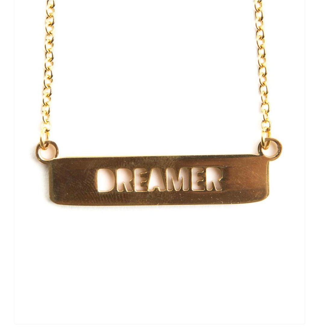 DREAMER cut out necklace