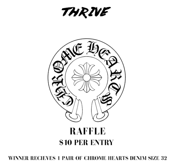 chrome hearts denim raffle