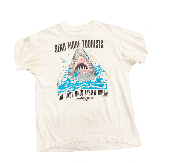 Vintage 80's Daytona Beach Shark Attack Shirt Size Medium