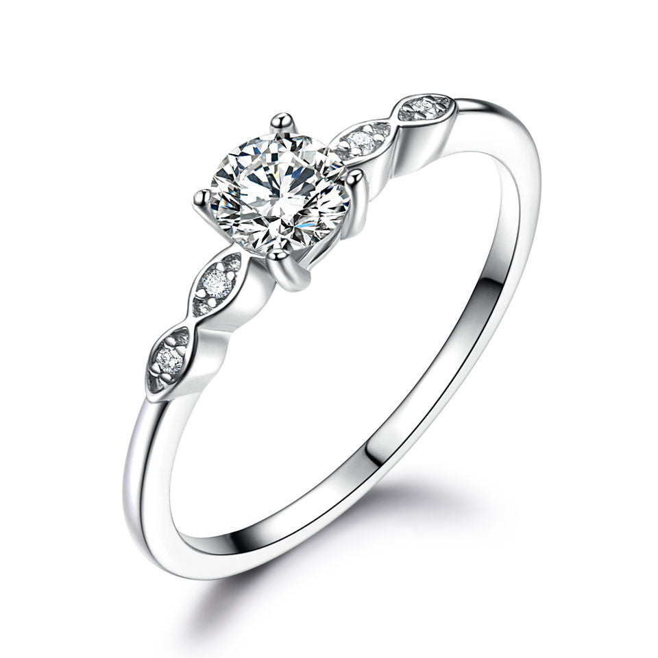 Silver Luxury Bridal Cubic Ring