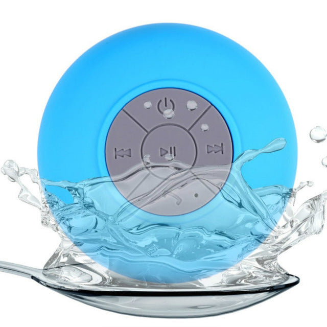 Waterproof Suction Bluetooth Speaker with Microphone