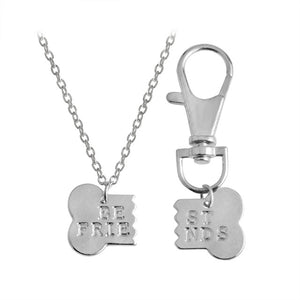 Best Friends Bone Necklace and Pendant Set