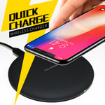 Qi Fast Charge Wireless Charger for Samsung & Apple