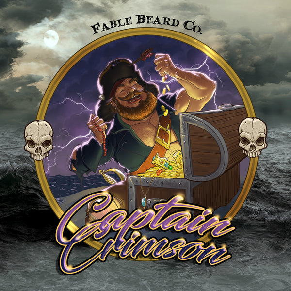 Captain Crimson - Treasure & Glory Pirate Beard Collection
