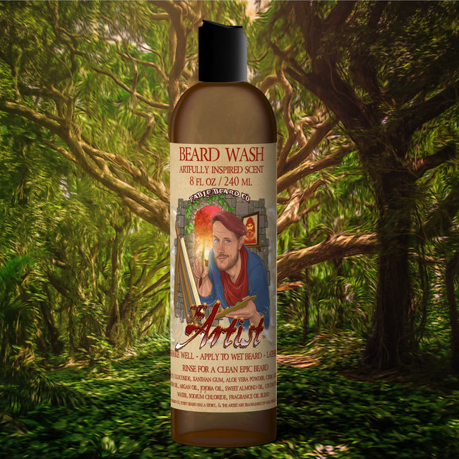 The Artist - Antique Cologne & Natures Paintbrush Beard Wash
