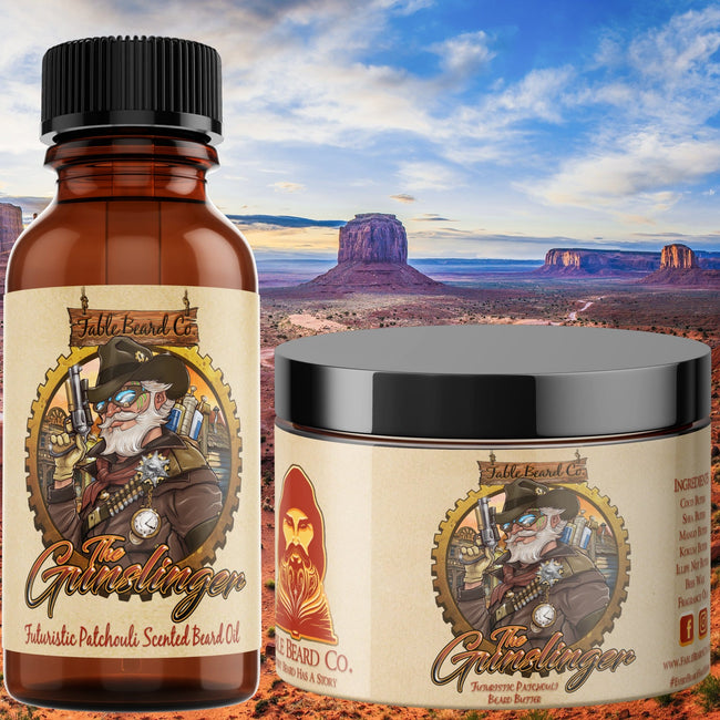 The Gunslinger - Teakwood & Patchouli Beard Oil & Butter Kit