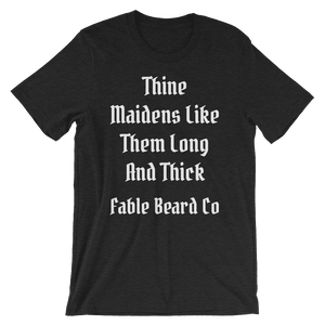 Fable Beard Co. Black Heather / S Long and Thick Short-Sleeve T-Shirt