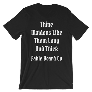 Fable Beard Co. Black / S Long and Thick Short-Sleeve T-Shirt