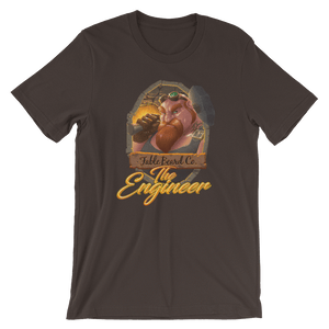 Fable Beard Co. Brown / S The Engineer Logo Short-Sleeve Unisex T-Shirt