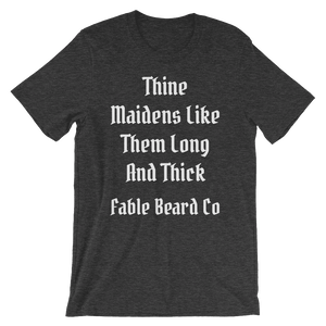 Fable Beard Co. Dark Grey Heather / S Long and Thick Short-Sleeve T-Shirt