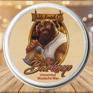 Fable Beard Co Mustache Wax 1oz Tin The Barkeep - An Unscented Mustache Wax