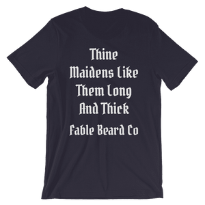 Fable Beard Co. Navy / S Long and Thick Short-Sleeve T-Shirt