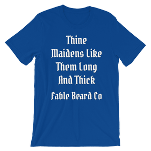Fable Beard Co. True Royal / S Long and Thick Short-Sleeve T-Shirt