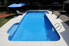 Inground Liner Pools with Liner Over Steps