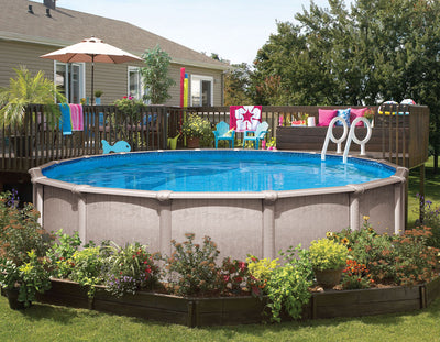 "Sahara STR  52"" Steel A/G Pool w/ Only Pkg, (includes Skimmer, Liner & Bead Reciever"