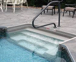 Inground Rectangle Pools with Acrylic/Fiberglass steps