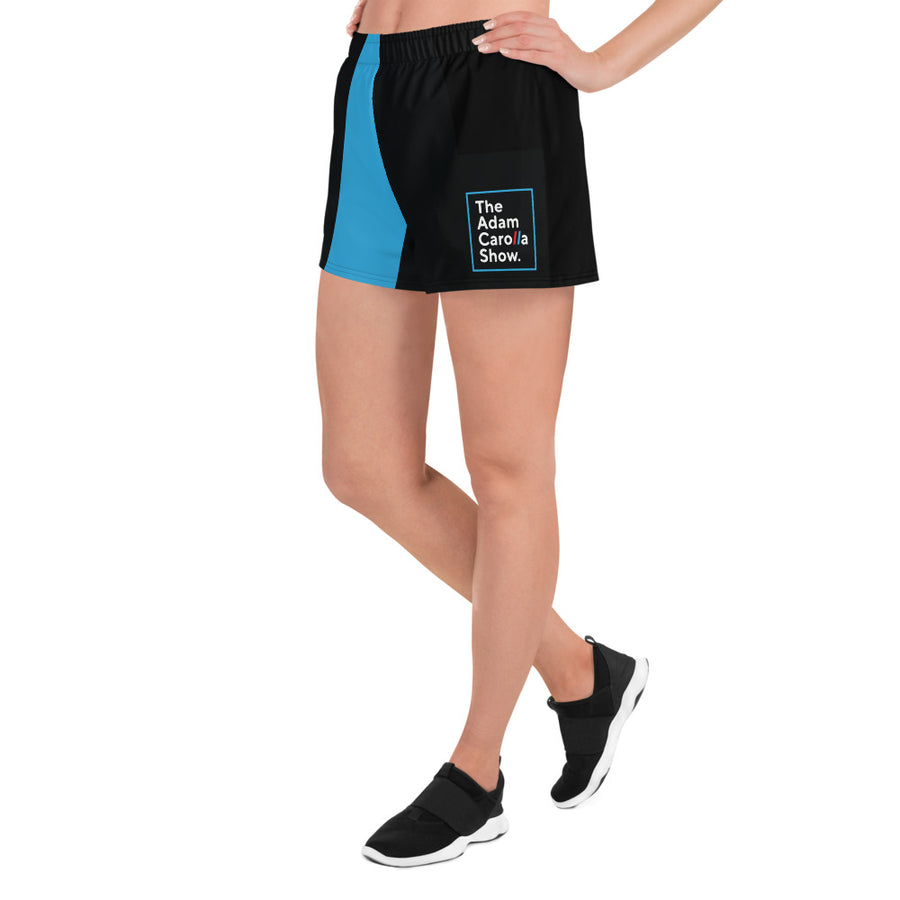 All-Over Print Women's Athletic Short Shorts, The Adam Carolla Show