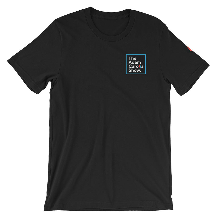 Short-Sleeve Unisex T-Shirt, The Adam Carolla Show w/ Sleeve Icon