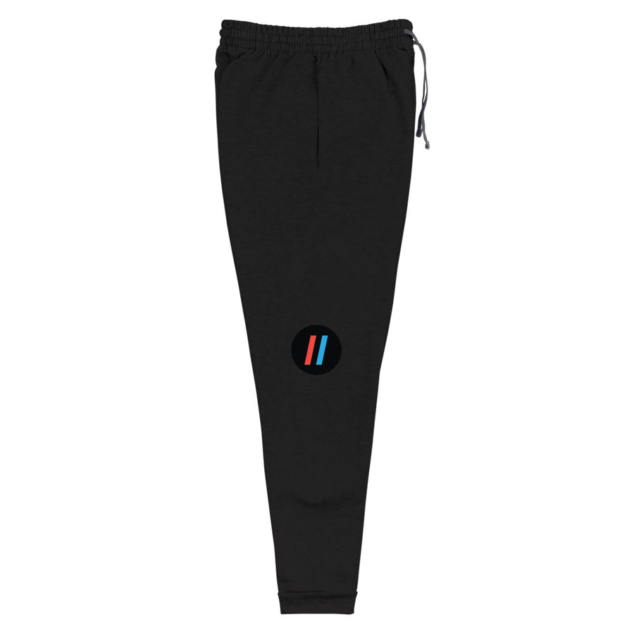 Unisex Joggers, The Adam Carolla Show Logo on Left Leg, ACS Icon on Right Leg