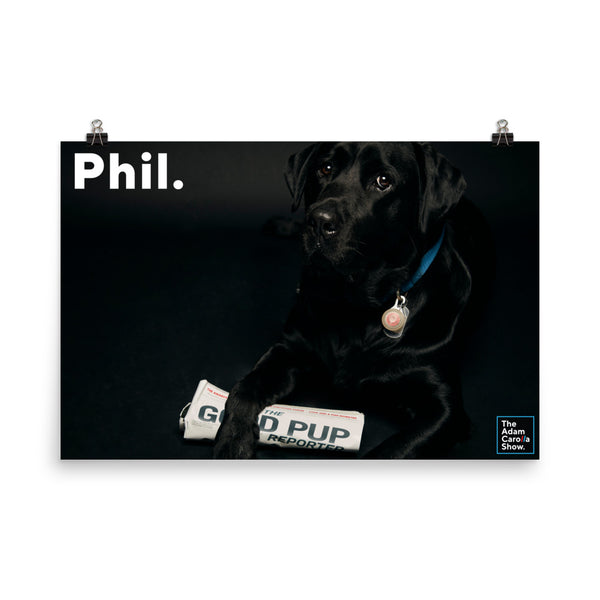 Phil Photo Paper Poster, The Adam Carolla Show