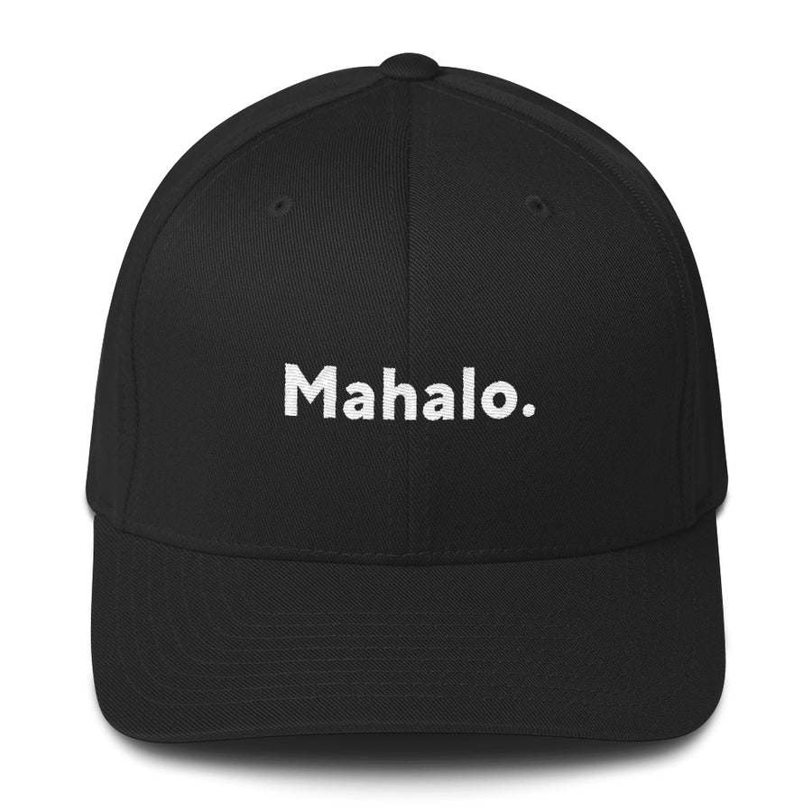 "Flexfit Structured Twill Hat, ""Mahalo."" 